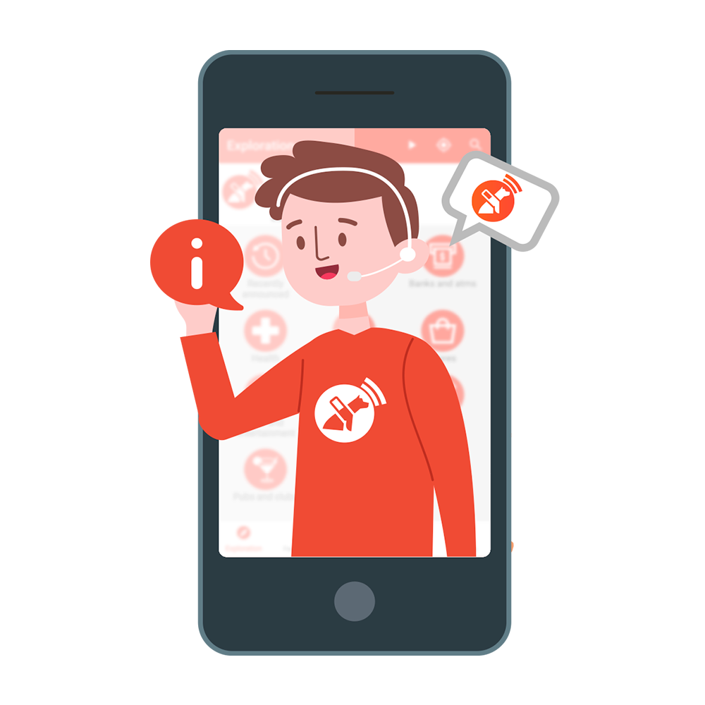 A customer service representative helps users with their experience - right from their smartphone!