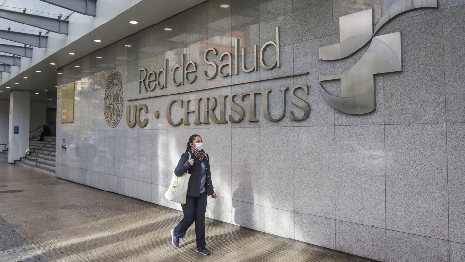 The outside of Red del Salud UC Christus