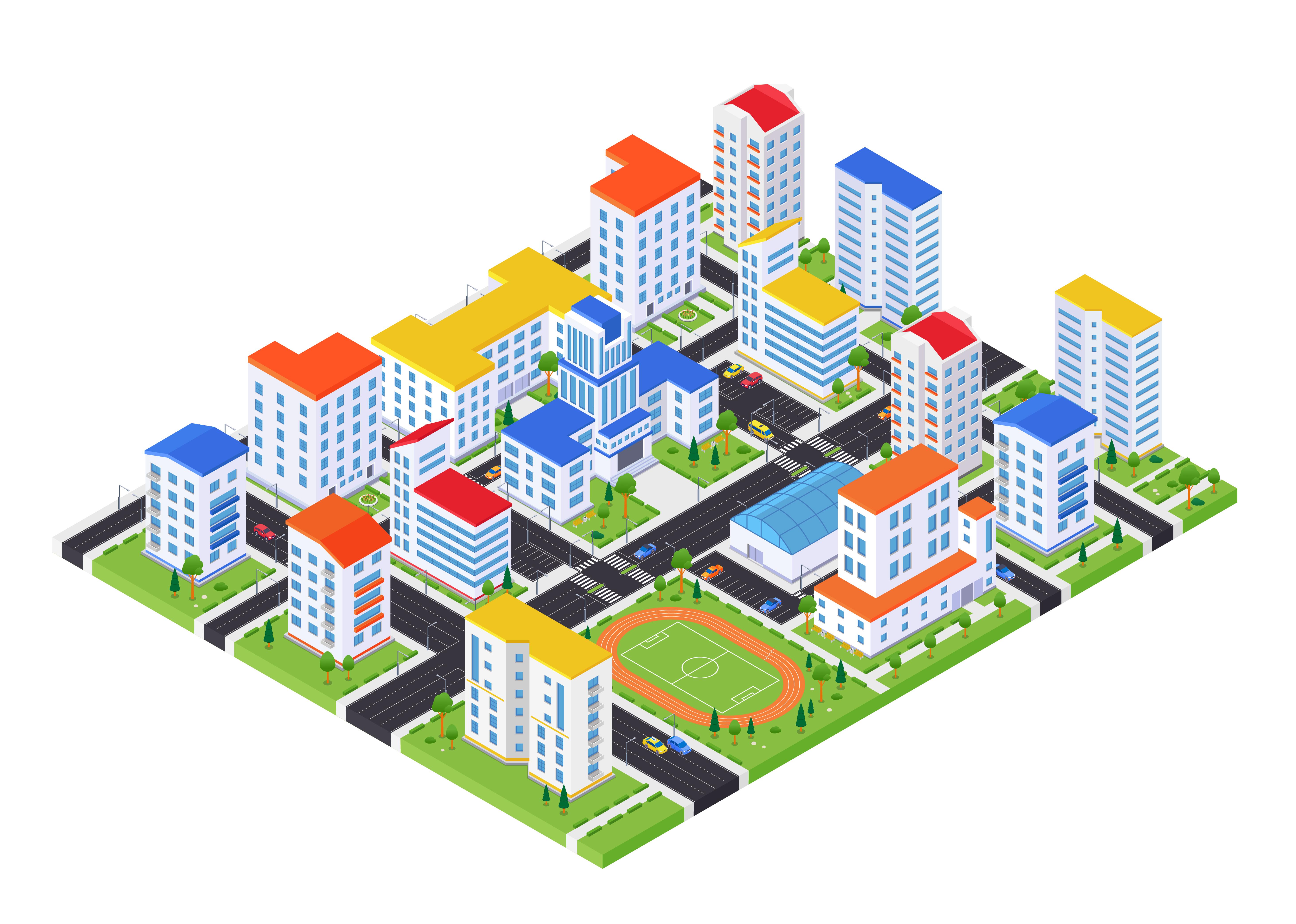 Ejemplo de mapa virtual de un complejo de apartamentos